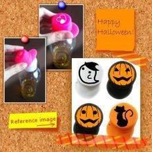 Halloween small gift present with your original design : cap on cap of plastic bottle