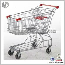 supermarket shopping cart hand
