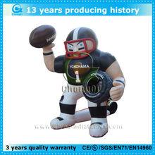 Inflatable saints and inflatable San Francisco quarterback