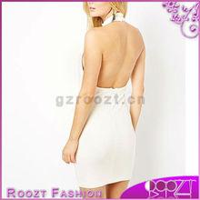 2013 Newest lady elegant High Neck And Open Back bandage dress