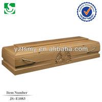 Classic modern natural oak colors of casket coffin
