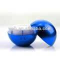 en forma de bola de acrílico tarro de plástico y el tornillo de las tapas superior