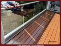 alumínio vidro terraço corrimão projeto