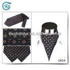 100% Silk Printing Classical Cravat Ascot Tie Gift For Men