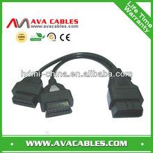 obd splitter cable 2in1 car obd diagnostic cable