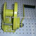 Venda quente 1ton cabo de aço galvanizado de freio manual guincho