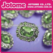 Turquoise Plastic Green Acrylic Rhinestone Buttons