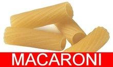 De pasta italiana, macarrones
