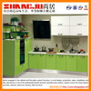 modern style kitchen cabinet white and apple green design