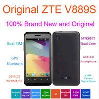 Original ZTE V889S Dual-core 1GHz 512M+4GB 4.0'' Screen Dual SIM Android 4.1 GSM/WCDMA 3G Smat Phone