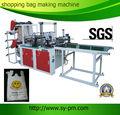 Fqct- 800 chine nouvelle conçu haute- vitesse de scellage à chaud sac à provisions en plastique faisant des machines avec tapis de course pour le film plastique pe