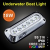 18W surface mounted transom led underwater light IP68