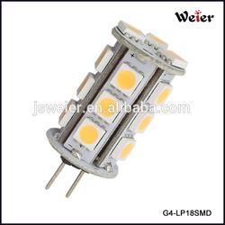 3W G4 18 SMD 5050 Led Auto Light 10-30V 360degree