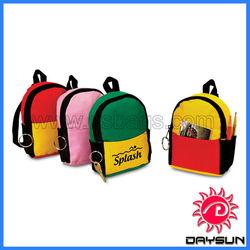 Promo zipper pouch mini keychain backpack