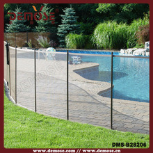Aluminum base channel pool glass fence