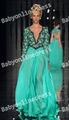 abed mahfouz turquia kaftan pescoço v frisado verdemanga longa vestidos de noite chiffon 2013 new arrival chiffon vestidos de baile bo1831