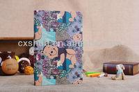 Cartoon Bear design dormancy leather case for ipad mini for kids