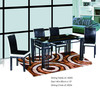 2013 wrought iron glass table
