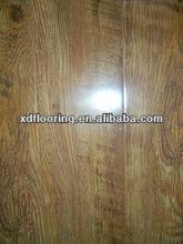 hdf high gloss wooden 8-12mm black walnut color flooring