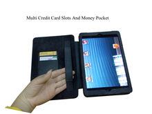 Luxury Genuine leather case for ipad mini. Portable design case for ipad mini,Leather case