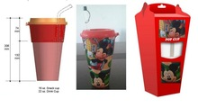 Cinema Cup Patented stackable snack and drink cups for TOGO BOX and amusement park