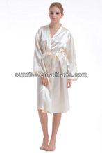champagne women's wholesale satin robe