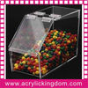Clear acrylic candy container with lid
