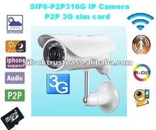 SIF6- P2P316G Waterproof outdoor camera P2P ip camera sim card 3g
