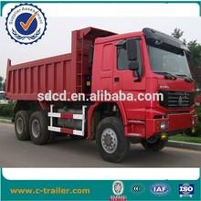 chinese end dump truck, 6x4 sinotruk rear tipper truck,howo tippers 6x4
