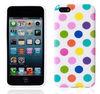 colorful polka dot design soft case for iphone 5c