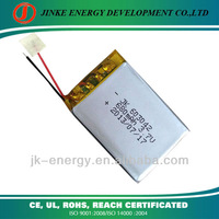 3.7v 700mah rechargeable li-ion battery 603042 with pcb and wire