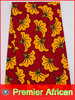 African Fabric Real Wax Print 6 Yards Cotton Red Wedding Fabrics rw089315