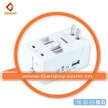 Genjoy 2014 Russia popular funnest gift for teacher gift set travel adapter CE ROHS pc china manufacturer A0311.00