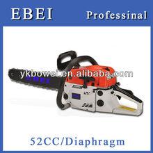 Aceite de mezcla de gas de la cadena de la sierra 52cc/2.2kw gas powered cadena de la sierra