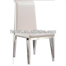 foshan factory dining furniture white dining table and chairs stainless steel base