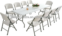 GARDEN TRESTLE FOLDING 6FT TABLE & CHAIRS SET BANQUET PARTY OUTDOOR CHAIR NEW