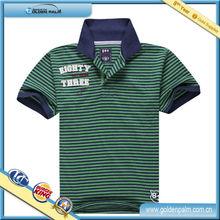 Lady's Knit Stripe Print Sport Polo Shirt/Dri Fit T-Shirts Wholesale Custom/Cheap Women Stripe Polo Shirts