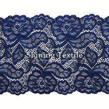 Mais recente Nylon Spandex do estiramento frisada Lace cortina para Lingerie