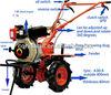 HT 6HP farm tilling machine