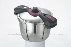 Large Induction Base Pressure Cooker 5.5L Safety Design