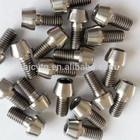 Titanium plates and screws
