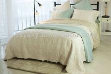 Faux silk quilt bedspread