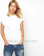 100%Cotton plain white Women's T-shirt (OEM)