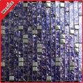 Tira púrpura de mosaico de vidrio metálico mural arte decorativo