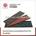 Colorido piedra recubierta de acero cubierta de | piedra revestido de azulejos del techo | de aluminio para techos | azulejos de cerámica