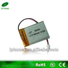 Multi-functional use 3.7v 900mah li-ion battery 503448 with pcb and wires for MP3,MP4,GPS,Mobile Phone