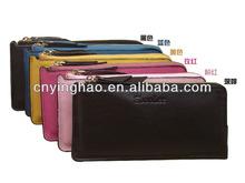 Fashion genuine leather checkbook cover