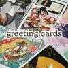 Japanese illustration hologram greeting card