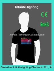 Flashing China LED T Shirt/rave shirts