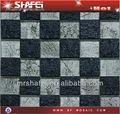 Cinza escuro resina imitação padrão de rock, folha de prata telha de mosaico